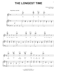 Billy Joel Bb T Field Seating Chart Billy Joel The Longest Time Sheet Music Notes Chords Download Printable Piano Duet Sku 163427