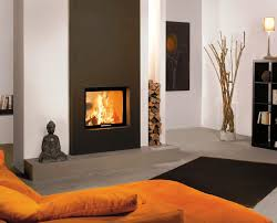 image of contemporary design double sided fireplace