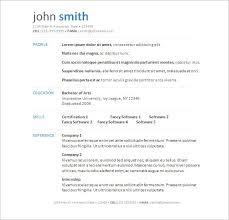 Word Document Resume Template Gorgeous Resume Template W Word Document Simple Free Swarnimabharathorg