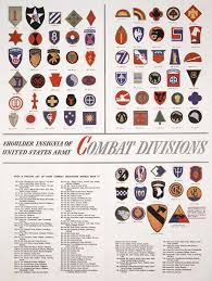 Us Army Patch Chart Us Army Wwii Divisions United States Army Us Army Patches
