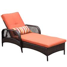 resin wicker chaise lounge. Delighful Resin Luxury Reclining Brown Wicker Chaise Lounge Chair Outdoor Patio Yard  Furniture Allweather With Cushions And Pillow In Resin U
