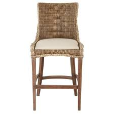 grey kubu wicker bar stool set of 2
