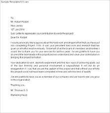 Letter Of Recognition Examples Best Client Appreciation Letter Samples Gratitude Sample