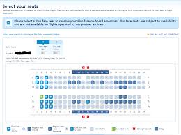 choosing select seats will bring up the seat map where you can make your choice from the available seats