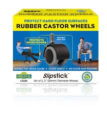 chair casters for hardwood floors. Slipstick Rubber Castor Wheels CB680 Chair Casters For Hardwood Floors