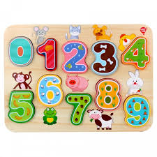 <b>Деревянная</b> игрушка Lucy & Leo <b>Рамка</b>-<b>вкладыш Цифры</b> LL197 ...