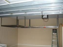 overhead storage ideas in diy garage prissy