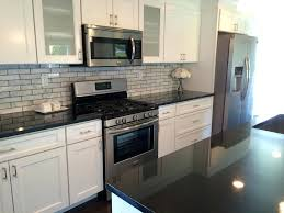 Backsplash Ideas For Black Granite Countertops Cool Granite Countertops With White Cabinets White Kitchen Cabinets With