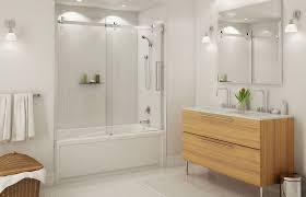 decorating bathroom with bathtub sliding door also bathroom mirrors above bathroom sink cabinets