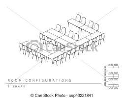 形状 レイアウト アウトライン 部屋 色 セットアップ イラスト 形 黒 見通し スタイル E 白 3d