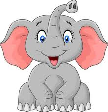 cute elephant clipart.  Clipart Cute Elephant Cartoon Sitting For Elephant Clipart