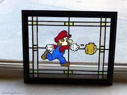 mario stained glass project diy