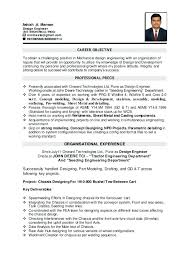 Resume Objective Engineer Example Career Objective Resume Of