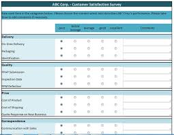 Customer Satisfaction Survey Template Excel Spreadsheetzone Free Excel Spread Sheets