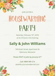 Housewarming Card Templates Colorful Housewarming Invitation Template Housewarming