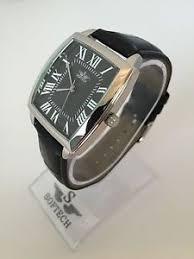 silver amp black designer mens watches men fashion softech image is loading silver amp black designer mens watches men fashion