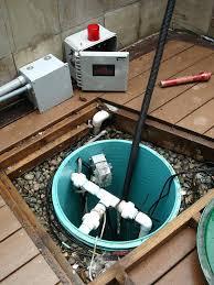 outdoor sump pump basin exterior system diagram