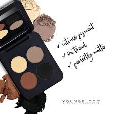 the warmer shades and all matte formula make this ideal for giving your clients a dramatic yet natural makeup look with all the benefits of a mineral