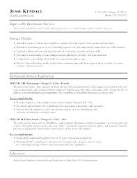 Server Resume Templates Classy Resume Sample Waiter Restaurant Server Resume Example Waiters And