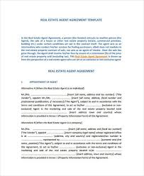 A real estate agent agreement is a document used by a real estate agent to provide services necessary to market and sell a client's property. Free 7 Exclusive Agency Agreement Forms In Ms Word Pdf Pages