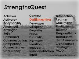 strength in being deliberative peer into your career deliberative types can be defined by how we tend to keep our personal life private and are usually selective about what we tell and to whom we tell it
