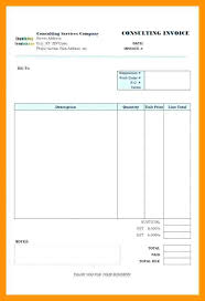 Sample Invoice For Consulting Services In Word Excel Monthly For Consultant Template Invoice