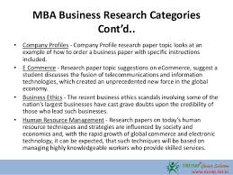 mba business research paper topics  5 mba business