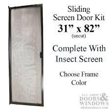 30 x 81 sliding screen door kit aluminum frame with screen material choose color