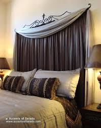 Curtain rod to create headboard. I LOVE THIS! | Beautiful homes in ...