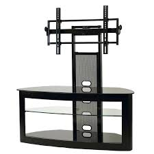 Corner Tv Stand For 65 Inch Glass With Mounting System  Screens Black Fireplace Black Inch Tv Stand L94