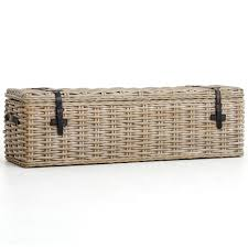 wicker storage chest. Contemporary Wicker Coastal Vintage Grey Woven Wicker Storage Trunk For Chest E