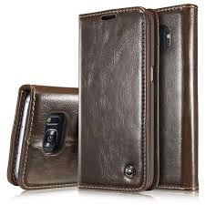 samsung galaxy s7 edge magnetic flip pu leather wallet case brown 29 99 15 99