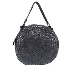 sandra round purse with braided leather passa allo zoom hover to zoom