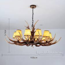 new 10 cast deer antler chandelier ten candle style pendant lights rustic lighting fixtures with
