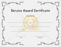 customer service award template service award certificate templates certificate template service