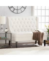 high life furniture. Modern Life Furniture High-Back Tufted Settee Bench High
