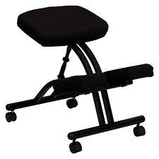 steel frame ergonomic kneeling posture office chair black com