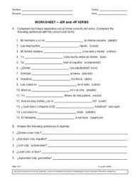 Ir Verbs Lesson Plans Worksheets Reviewed By Teachers