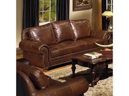 traditional leather sofas. Contemporary Leather USA Premium Leather 8555Traditional Sofa  In Traditional Sofas