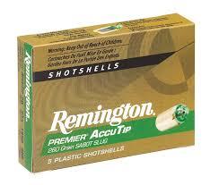 20 Gauge Slug Ballistics Chart Premier Accutip Sabot Slugs Remington