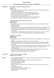 Home Health Nurse Resume Samples Velvet Jobs