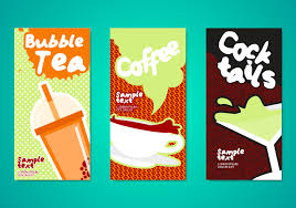 poster vector art s bubble tea drinks flyers template