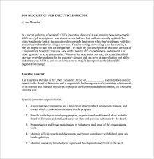 chief executive officer job description templates – free sample    non profit ceo job description example pdf template free download