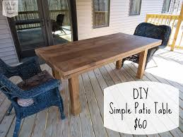 How To Build A Patio Table Plans