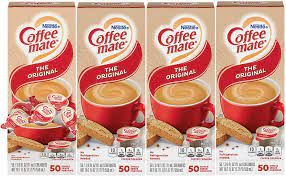 A single serving size i.e. Amazon Com Nestle Coffee Mate Coffee Creamer Original Liquid Creamer Singles Non Dairy No Refrigeration Box Of 50 Singles Pack Of 4 Grocery Gourmet Food