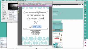 Create Your Invitation How To Make Your Own Wedding Invitation Free Template Tutorial