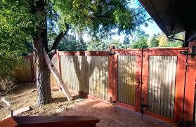 corrugated steel fence corrugated steel ceiling ideas wood and metal fence ideas deck industrial with corrugated corrugated steel fence