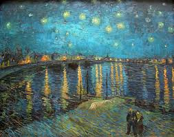 starry night over the rhone vincent van gogh oil painting