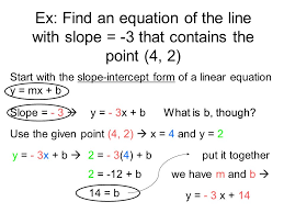 ex find an equation of the line with slope 3 that contains the