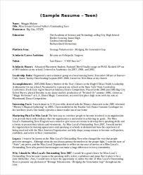 Teen Resume Builder Fascinating Basic Teenage Resume Resume For Teenager Tributetowayne